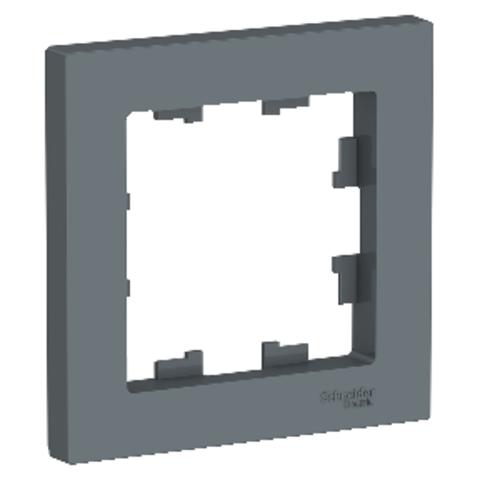 Рамка на 1 пост. Цвет Грифель. Schneider Electric AtlasDesign. ATN000701