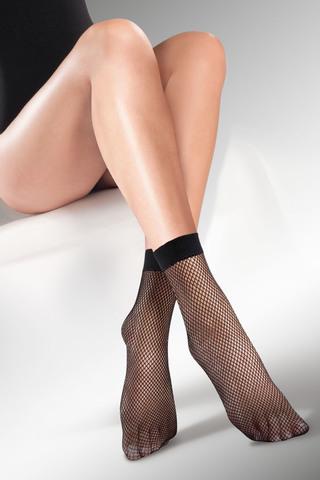 Женские носки сетка черного цвета