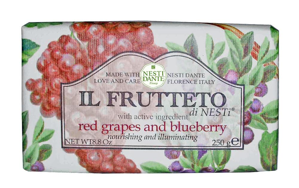 IL FRUTTETO Red grapes & Blueberry / Красный виноград и голубика мыло 250 гр