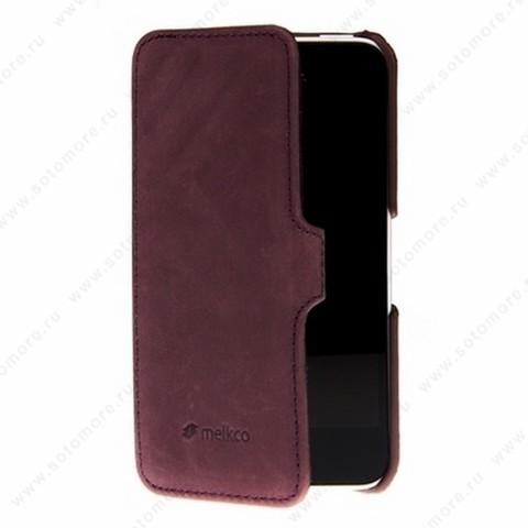 Чехол-книжка Melkco для iPhone 5sE/ 5s/ 5C/ 5 Leather Case Booka Type Craft LE Prime Dotta (Classic Vintage Purple)