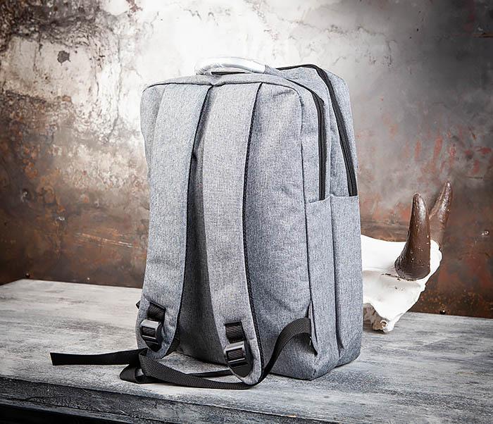 BAG455-3 Стильный городской рюкзак из ткани фото 04