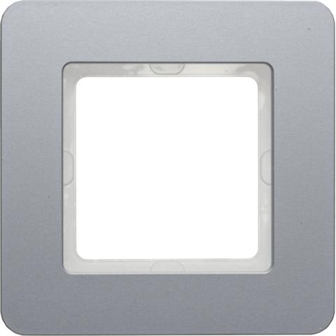 Рамка на 1 пост алюминий. Цвет Алюминий. Berker (Беркер). Q.7. 10116074