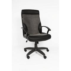 Кресло VT_EChair-639 TPU ткань/к/з серый/черный, пластик