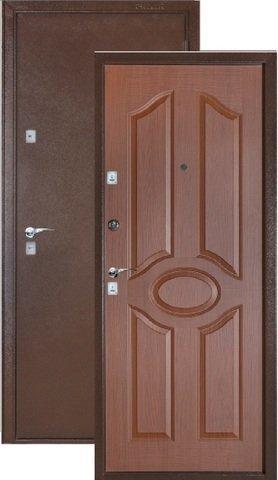 Дверь входная Бульдорс 101, 2 замка, 1,5 мм  металл, (медь антик+лесной орех)