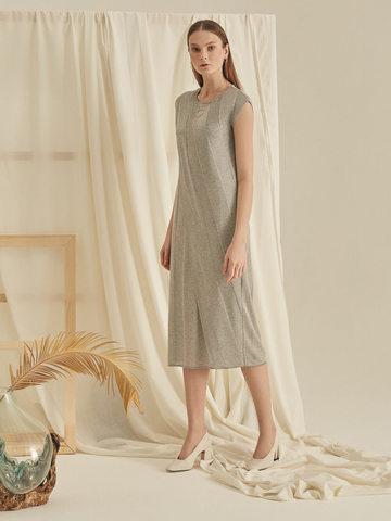 Женское платье миди серого цвета - фото 4