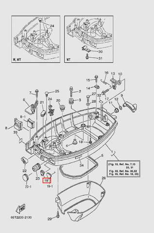Заглушка-уплотнитель  для лодочного мотора T40 Sea-PRO (13-19)