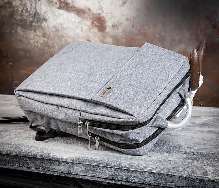 BAG455-3 Стильный городской рюкзак из ткани фото 05