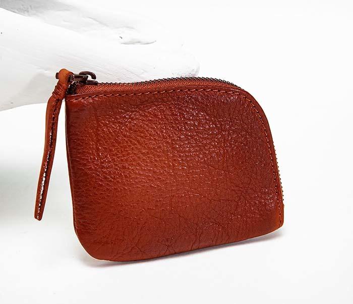 WL341-3 Кожаный мини кошелек красного цвета