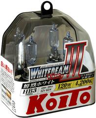 Галогенные лампы KOITO HB3 WhiteBeam III (4200K) P0756W