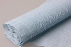 Бумага гофрированная простая нежно-голубой (559), 50 см/250 см