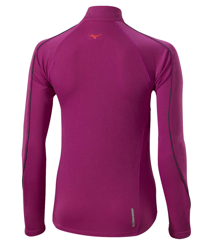 Женская беговая рубашка Mizuno WarmaLite Zip LS Tee (J2GA5709 66) фото
