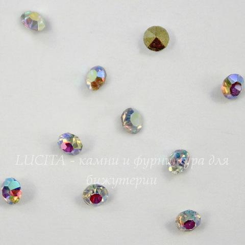 Стразы ювелирные (цвет - прозрачный с  AB - покрытием) 2,8 мм, 10 шт