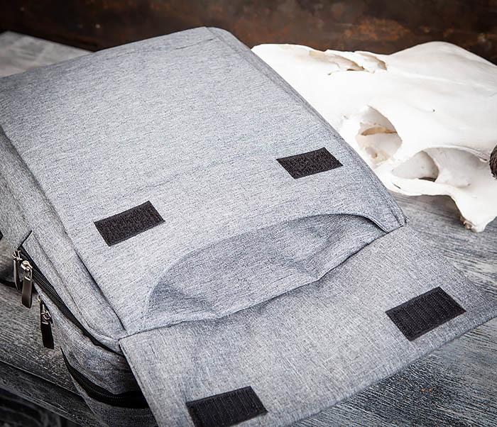 BAG455-3 Стильный городской рюкзак из ткани фото 06