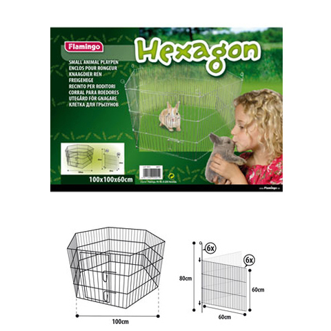 Flamingo HEXAGON ФЛАМИНГО ГЕКСАГОН вольер для животных, металл, 6 панелей
