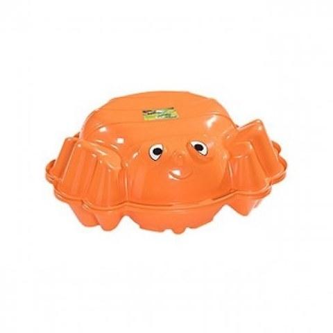 Песочница с крышкой KHW Пчёлка 72012 оранжевый