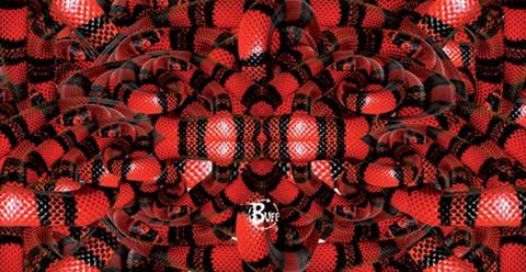 Повязка на голову спортивная Buff Boa Red