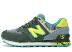 Кроссовки Женские New Balance 574 Premium Green Yellow