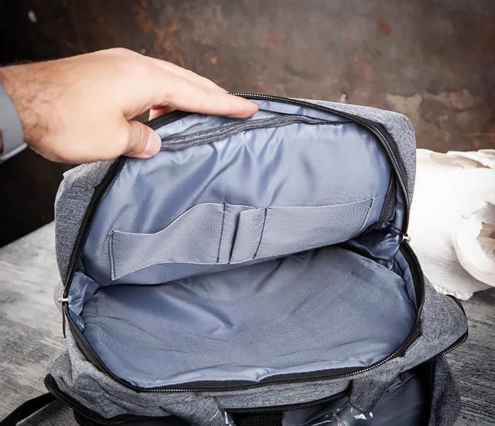 BAG455-3 Стильный городской рюкзак из ткани фото 07