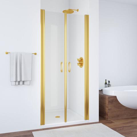 Душевая дверь в нишу Vegas Glass E2P профиль золото, стекло прозрачное