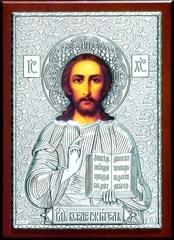 Серебряная икона Иисуса Христа Спасителя 21х15см