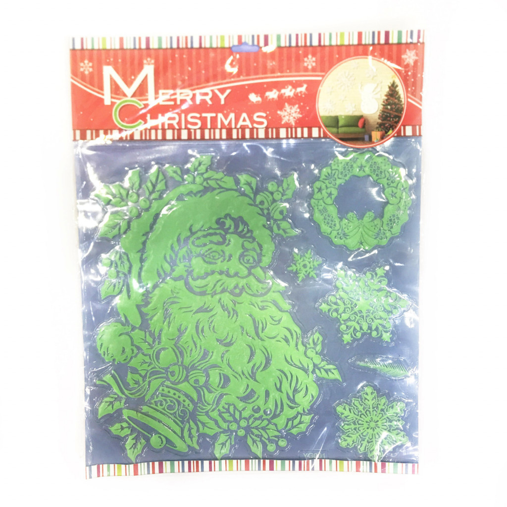 Набор новогодних наклеек Merry Christmas, 30х40 см