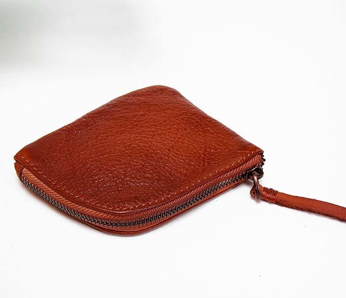 WL341-3 Кожаный мини кошелек красного цвета фото 03
