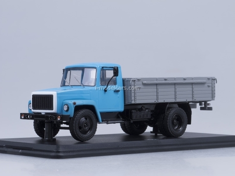 GAZ-3307 engine ZMZ-513 wooden board blue-gray Start Scale Models (SSM) 1:43