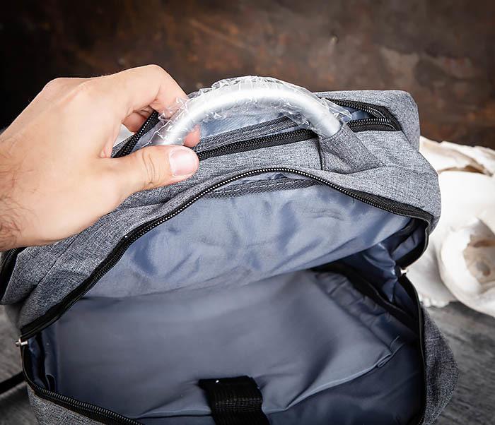 BAG455-3 Стильный городской рюкзак из ткани фото 08