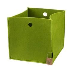Корзина для хранения, Lejoys, Felt, зеленая, 270*270*270 мм