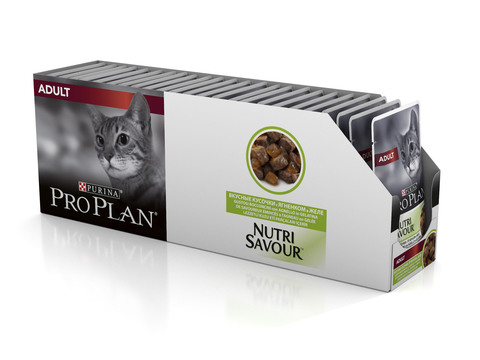 Pro plan adult with lamb cat (pouch jelly)