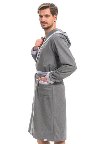 Мужской халат SMS.9285 Grey Melange Doctor Nap