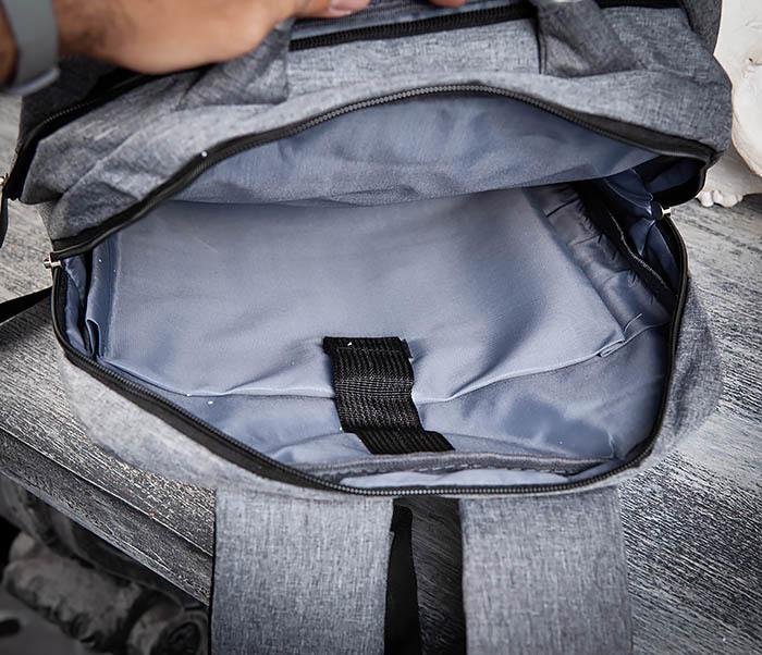 BAG455-3 Стильный городской рюкзак из ткани фото 09