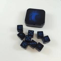 Legion Supplies - Iconic Water 9 шестигранных кубиков в железной коробочке