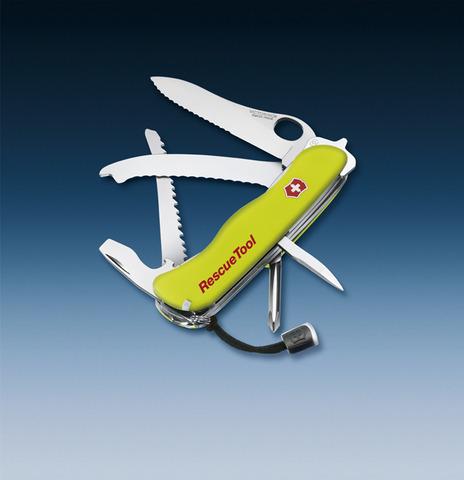 Нож Victorinox Rescue Tool One Hand, 111 мм, 14 функций, желтый*