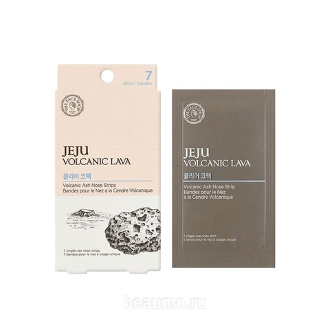 THE FACE SHOP Очищающие патчи для носа Jeju Volcanic Lava Pore Clear Nose Strip