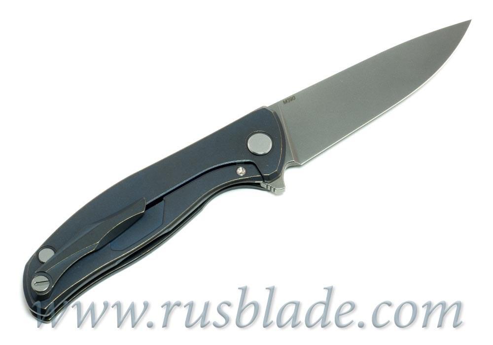 Shirogorov Flipper 95 M390 Blue Anod
