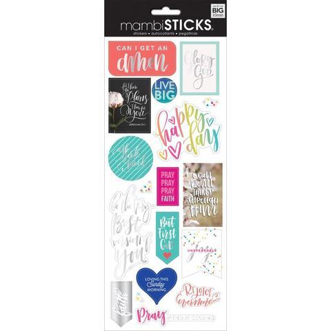 Стикеры ацетатные  mambi Specialty Stickers Can I Get An Amen  13х30 см