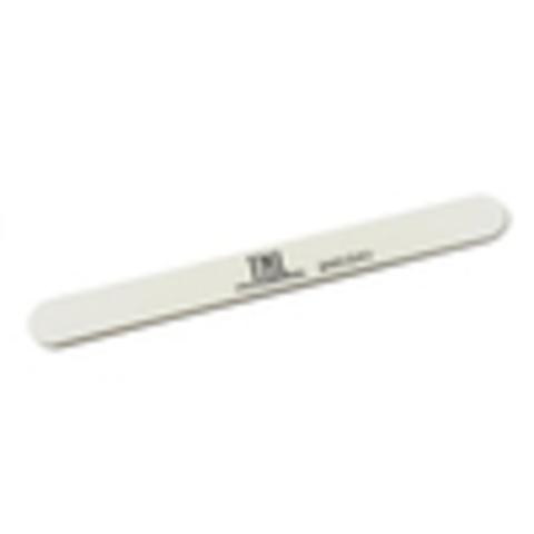 Пилка для ногтей тонкая 100/180 улучшенное качество (белая) в индивидуальной упаковке (пластиковая основа)