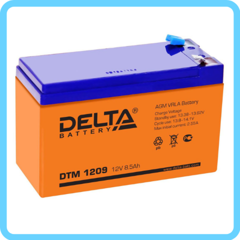 Аккумулятор Delta DTM 12V/9A