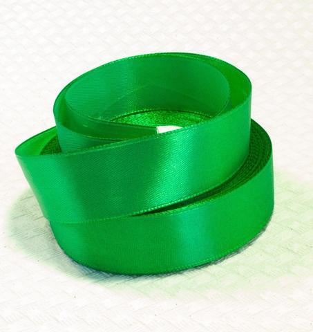 Лента атласная, цвет - травяной, 20мм