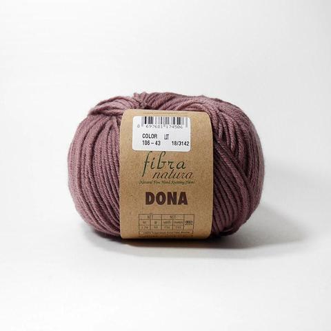 Купить Пряжа FibraNatura Dona Код цвета 106-43 Вялая роза | Интернет-магазин пряжи «Пряха»