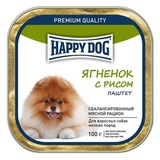 Happy Dog Консервы для собак мелких пород с ягнёнком и рисом (паштет) 15х100 г (65444)