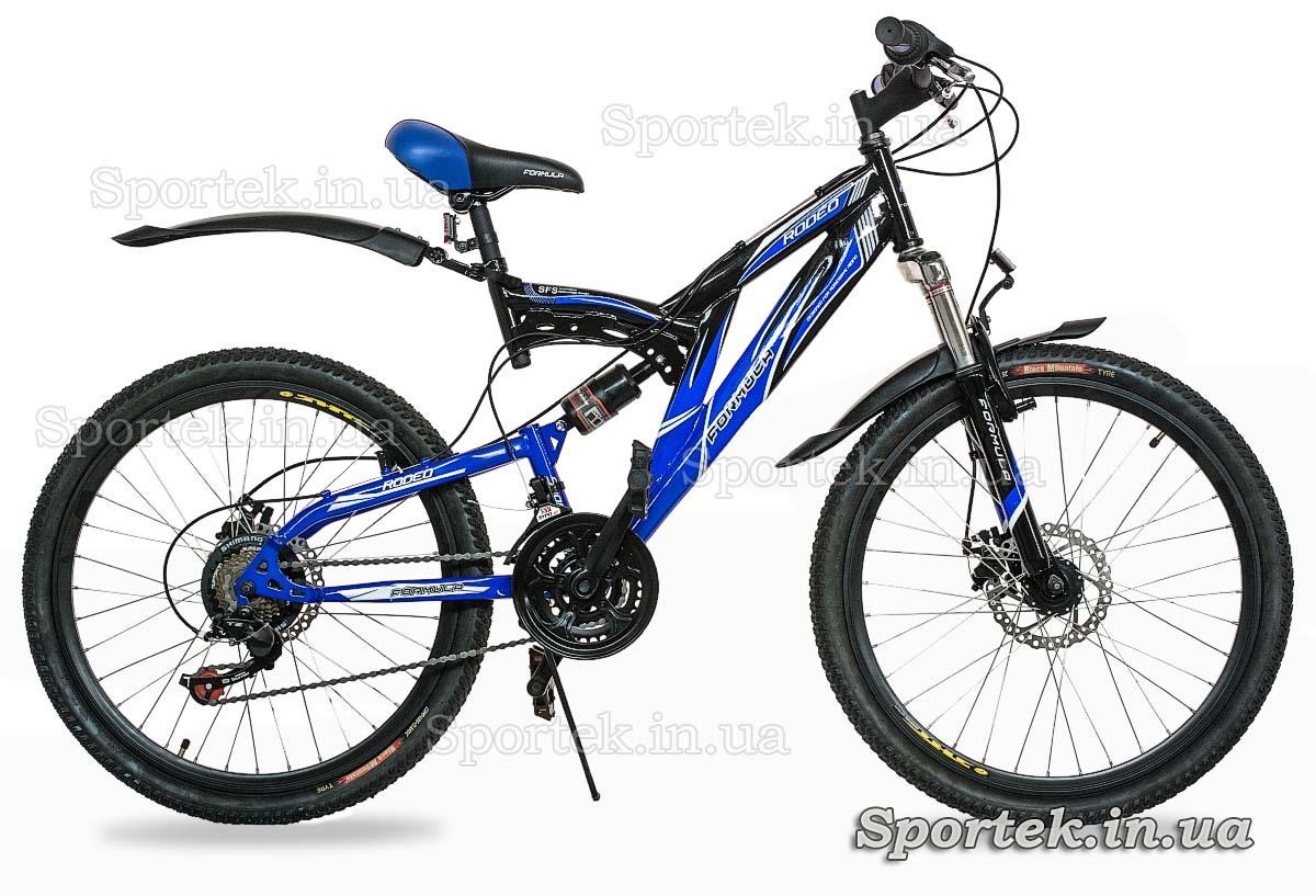 Горный универсальный велосипед Formula Rodeo DD 2015 черно-синий