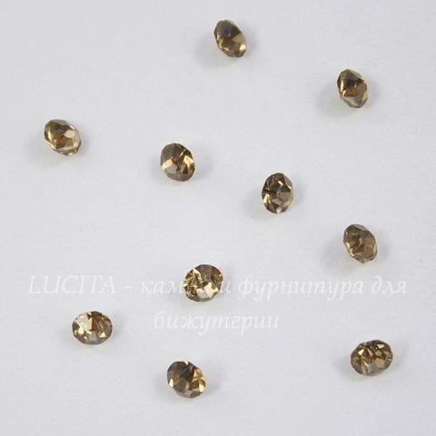Стразы ювелирные (цвет - золотой) 3 мм, 10 шт