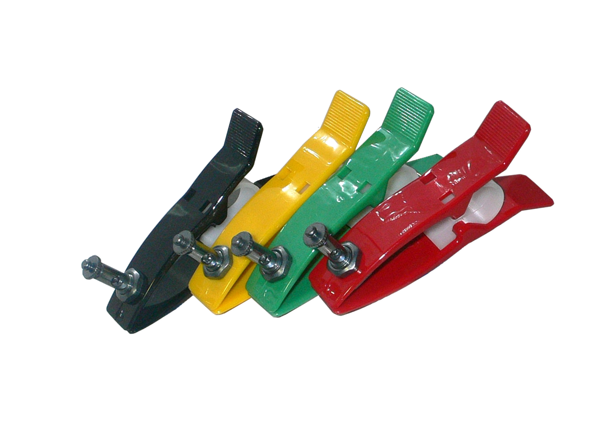 Комплект многоразовых конечностных электродов ЭКГ, взрослый  с поджимным винтом и зажимом