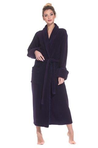 PAOLA 920 фиолетовый женский махровый халат   PECHE MONNAIE Россия
