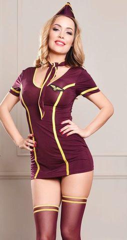 Откровенный костюм стюардессы