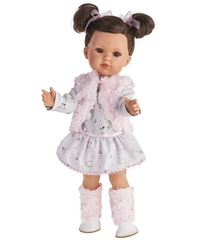 Munecas Antonio Juan Кукла Белла в розовом жилете, 45 см (2807P)