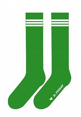 St. Friday Гольфы Полосатая классика. Зеленые