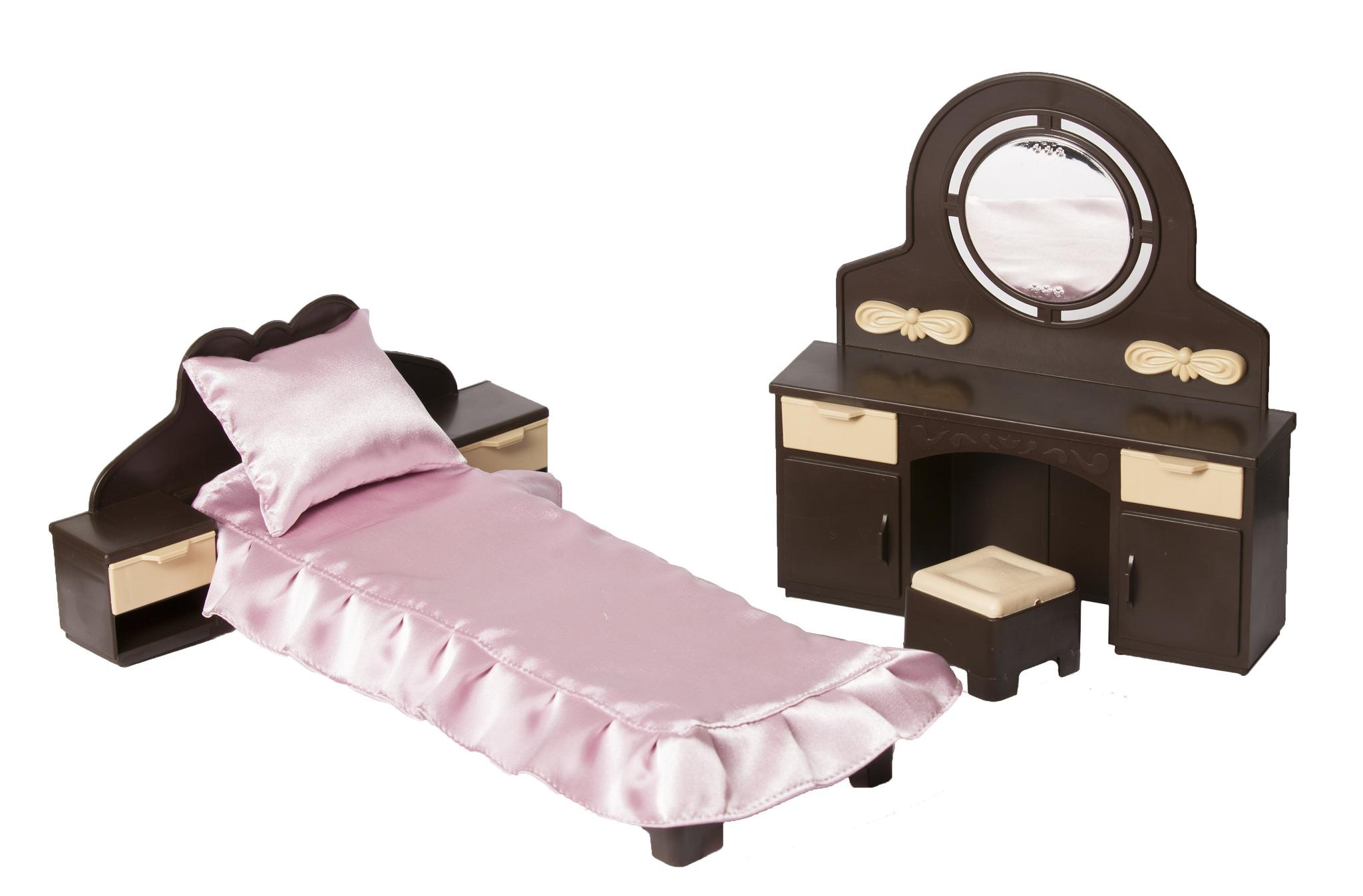 Мебель для кукол Огонек для спальни